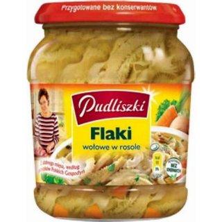 PL Pudliszki Flaki/Kuttelsuppe  wolowe w rosole 500g